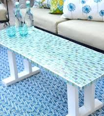 how to make a mosaic table top for outdoors river mosaic tile table top ideas for