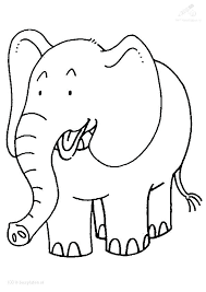 Printable Pictures Of Elephants Drawing Elephant Coloring Page Free
