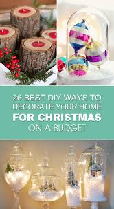 best diy ways to decorate your home for christmas on a budget