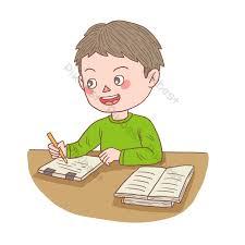 Nhân vật hoạt hình vẽ tay cậu bé viết bài tập về nhà | Công cụ đồ họa PSD  Tải xuống miễn phí - Pikbest