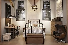 industrial look bedroom. Fine Industrial I Love The Rustic Industrial Look For A Boyu0027s Room Can See Some Great  Vintage Robot Prints Hanging In Frames Above To Add Muted Color To Industrial Look Bedroom T