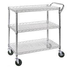 seville classics all purpose wire kitchen cart