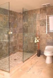 Open shower without door asian-bathroom