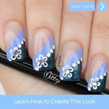 Spring Flower Nail Art – Mitty. Nail Art Tools & Brushes