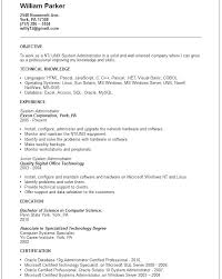 Entry Level System Administrator Resume Sample Best of System Administrator Resume Sample Resume Letter Collection