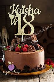 Any Name Number Glitter 18th Birthday Cake Topper Etsy