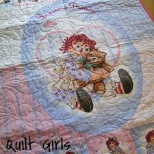 821 best I love Raggedy Ann and Andy! images on Pinterest | Baby ... & Panel Quilt Made with Raggedy Ann Dream a Dream Fabric Adamdwight.com