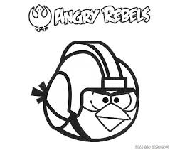 Small Picture Angry Bird Star Wars Printable Coloring Pages Apigramcom