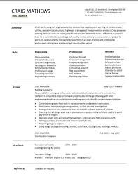 Engineering Resume Templates Custom Civil Engineer Resume Template