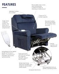 ambassador lift recline chair features