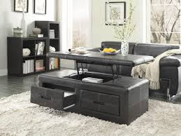 lift top coffee tables storage unique coffee table black wood coffee table storage padded round wooden