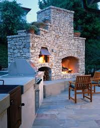 fresh backyard brick fireplace outdoor chimney grill