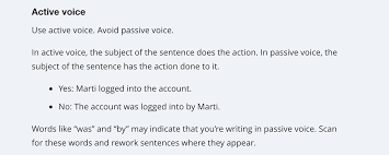 Use The Active Voice In Your Documentation For Happier