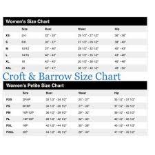 Croft Barrow Size 10 Denim Skirt Skort
