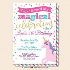 Unicorn Party Invitation White Glitter Unicorn Birthday Party Invite Printable Instant Download Editable Pdf