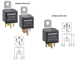 the 12 volt shop manufactured in eoruope to very exacting original equipment standards all narva normal open relays are rated to 500 000 cycles and feature a braided power
