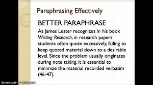 using paraphrases in an essay