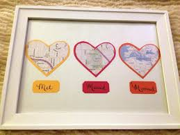 first anniversary gift map hearts display tutorial and other gifts from the heart ideas