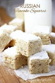 <b>Russian</b> Teacake Squares — Let's Dish Recipes