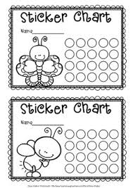 Black And White Reward Chart Sticker Charts Black And White Animal Themed Monster Themed Insect Themed
