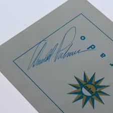 arnold palmer signed el dorado course score card jsa aloa