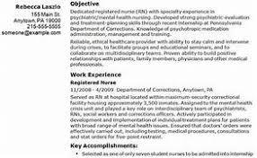 Gallery Of Objective For Nursing Resume Entry Level Nursing Resume