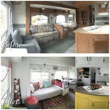 Superb A Before And After Photo Of A Fifth Wheel Renovation.