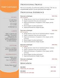Resume Example Professional Resume Design Template Free Download