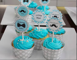 Little Man Cupcake Toppers For A Baby Boy Shower Cupcake Cakes