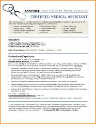 Medical Assistant Resume Sample Resumelift Com Samples For