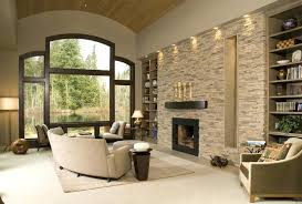 stone wall accent inspiring accent wall ideas to change an area living room brown bedroom rustic