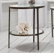coffee table glass side table metal and glass coffee table in round glass with bronze