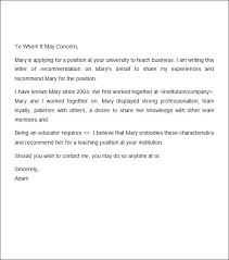 Recommendation Letter Template For Job Shatterlion Info