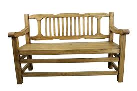 image rustic mexican furniture. Pine Rustic Bench Decorative Back Support Mexican Image Furniture