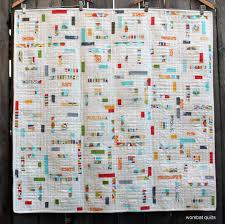 modern quilts   WOMBAT QUILTS & modern log cabin quilt Adamdwight.com