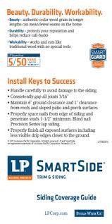 Lp Smartside Coverage Chart Cedar Shake Siding Nj