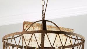 inspired photo of metal drum chandelier