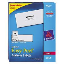 Avery Easy Peel Laser Address Labels 1 1 3 X 4 White