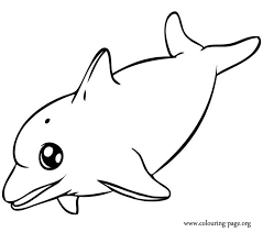 Small Picture Dolphins Happy dolphin swimming coloring page