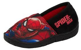 Spiderman Light Up Shoes Size 13 Details About Boys Marvel Spiderman Light Up Slippers Slip On Mules Shoes Super Hero Size