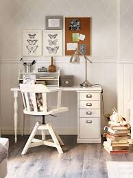 a stylish ikea office space with a custom desk and feodor swivel chair to get work done or maybe daydream a little