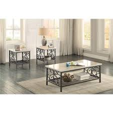 living room coffee table sets. marble top 3 piece coffee table set - fairhope living room sets o