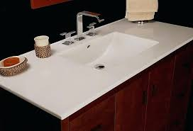 Integrated Sink Vanity Top Has Tops Made From Stone With Porcelain  Bowls Or One On Of79
