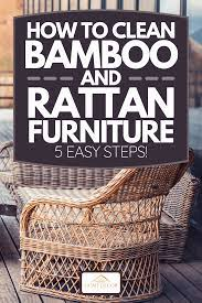 to clean bamboo and rattan furniture