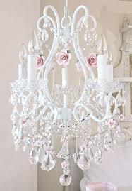 pink chandelier lighting. 5Light Crystal Chandelier With Pink Porcelain Roses Lighting