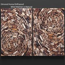 ... dimond home driftwood whirl wall art in natural 3d model max obj fbx  mtl unitypackage 6 ...