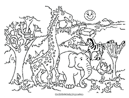 Coloring Pages Forest Animals Free Animal Coloring Book Pages Wildlife Coloring Book Jungle