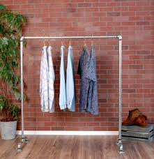 pipe clothing rack. Fine Pipe Industrial Pipe Clothing Rack Galvanized Silver By William Robertu0027s  Vintage Inside C