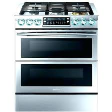 oven auto clean whirlpool self cleaning stainless steel stove slide in double gas glass door ft