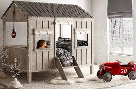 fort like cabin bed by restoration hardware baby and child